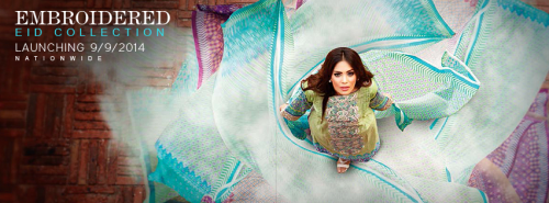 Zeniya Eid Embroidered Lawn Collection 2014 by Deepak Perwani