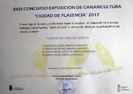 """XXIX Concurso de Canaricultura """"Virgen del Puerto"""" Carcaboso 2017"""