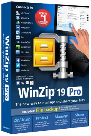 WinZip Pro 19.0 build 11293