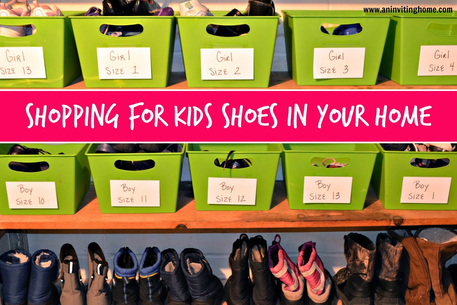 shopping for kids shoes in your home