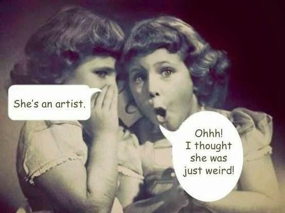 She's an artist!