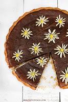 Mazurek z solonym karmelem i czekoladą