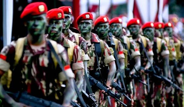 Komando Pasukan Khusus TNI AD (Kopassus). PROKIMAL ONLINE Kotabumi Lampung Utara