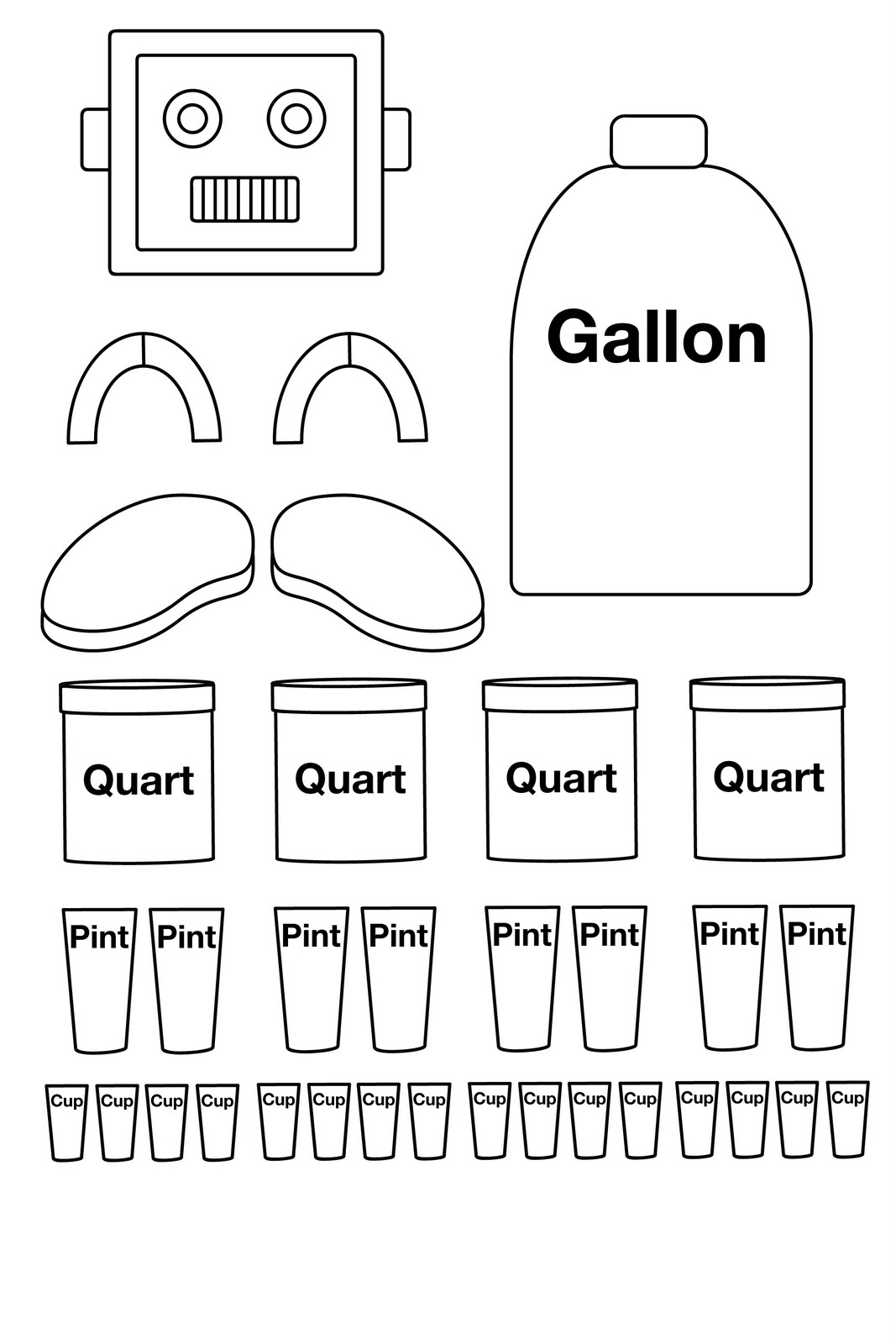 Clever image in gallon man printable