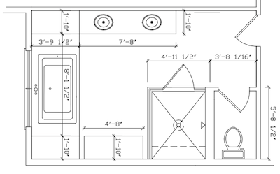 It 39 s always something july 2012 for Master bath floor plans