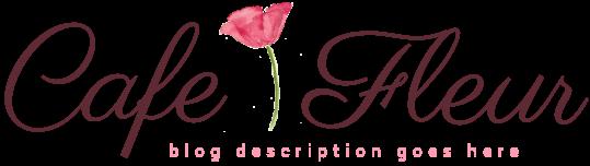 Cafe Fleur Blog Design