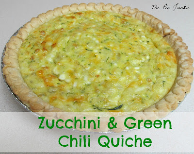 Zucchini Green Chili Quiche