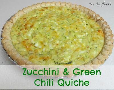 Zucchini Green Chili Quiche