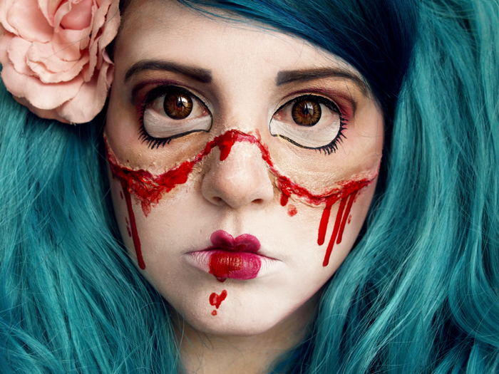 T te de thon halloween tuto la poup e cass e - Maquillage poupee halloween ...
