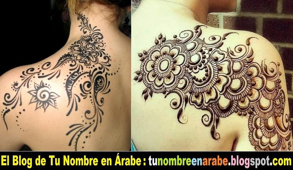 Mehndi Tattoo Espalda : Tu nombre en �rabe tatuajes temporales de henna la