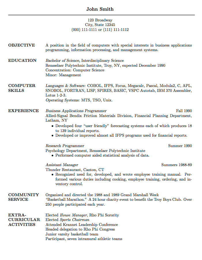 psychology graduate school resume template - Psychology Resume Template