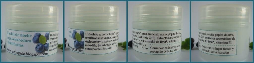 Crema facial ecológica multifrutas con coenzima Q10
