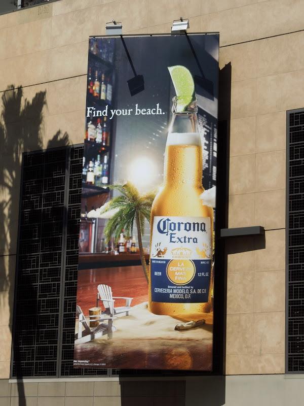 Corona Find your beach bar billboard