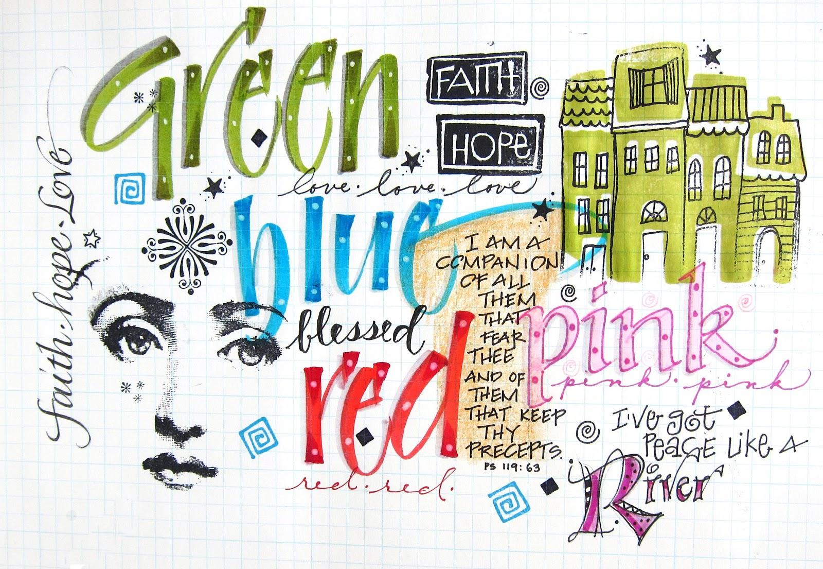 Art du Jour by Martha Lever: Letter Collage