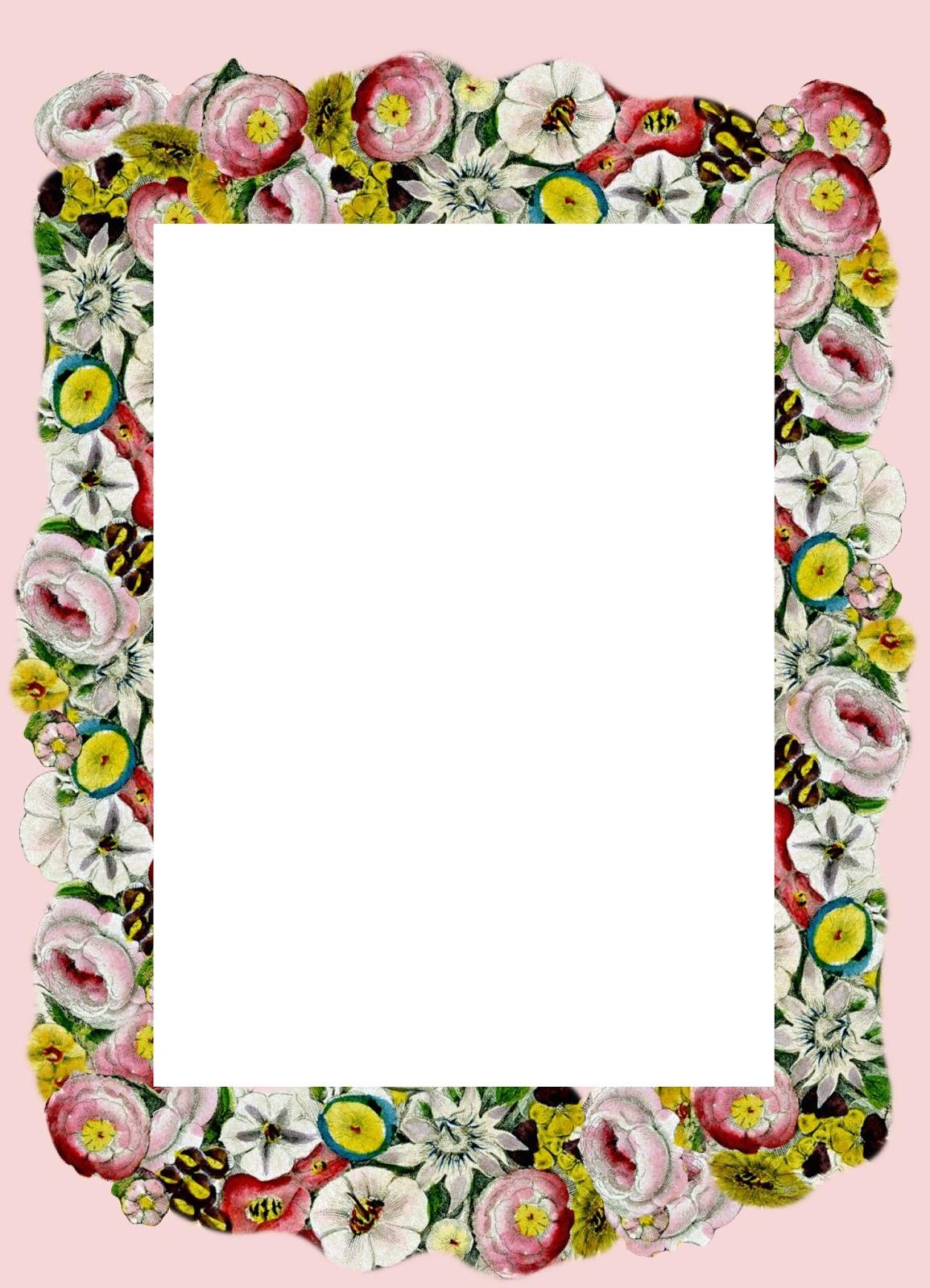 Free printable vintage flower stationery - ausdruckbares ...