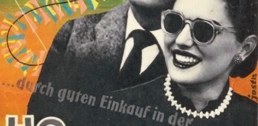 """Afiche de publicidad libro """"Tras El Muro"""" 1955 RDA"""