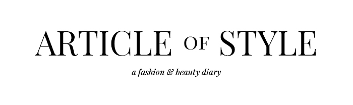 Article Of Style