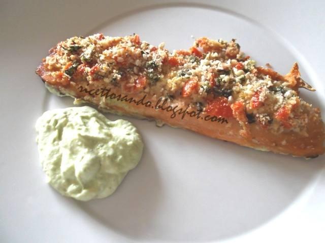 Trota salmonata gratinata ricetta di pesce