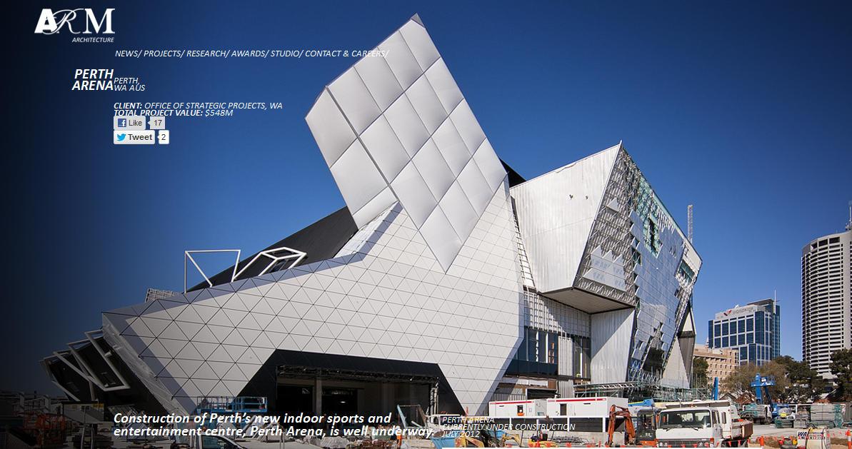 Proyecto Perth Arena, Visualización Digital: 2012