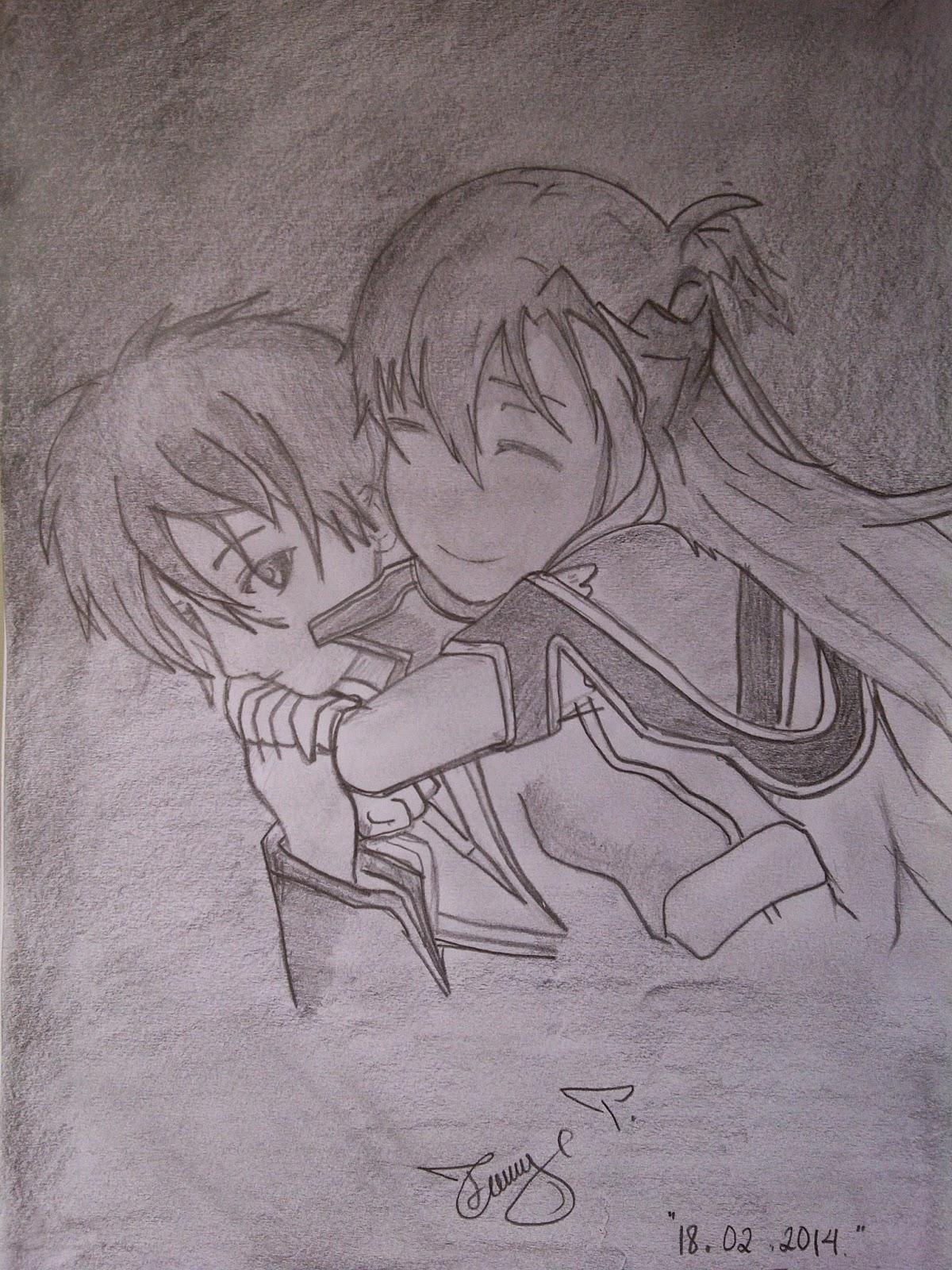 Itu lah sedikit gambar lukisan pensil anime dari saya