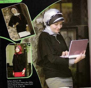 Mazaya Busana Muslim Hitam merah marun Abu misty Putih