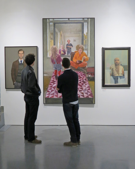 SELF Portrait Prize 2013 - West Wall, Threadneedle Space, Mall Galleries