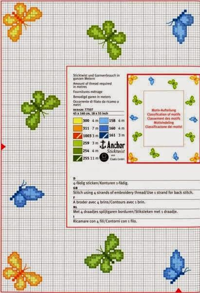 Meus gr ficos de ponto cruz borboletas para bordar for Piccole farfalle punto croce