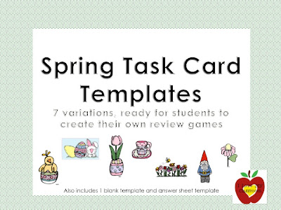 i love my classroom spring task card templates time to review. Black Bedroom Furniture Sets. Home Design Ideas