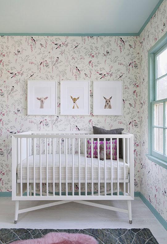 Aqua Trim in a Baby Nursery