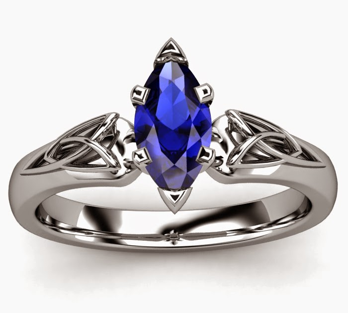 wedding ring beautiful blue gem - Beautiful Wedding Rings
