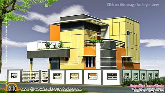 Tamilnadu house modern style