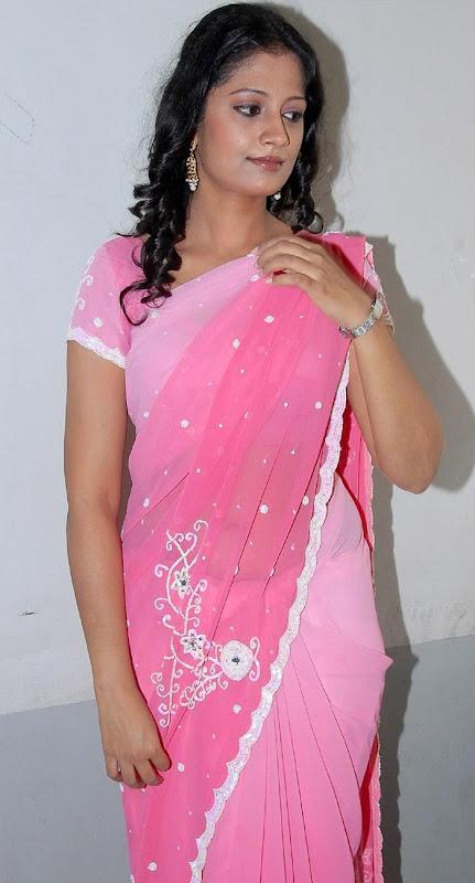 Tamil Desi Teen Actress Anika Hot Looking Sari Stills sexy stills