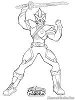 Mewarnai Gambar Power Ranger Super Samurai