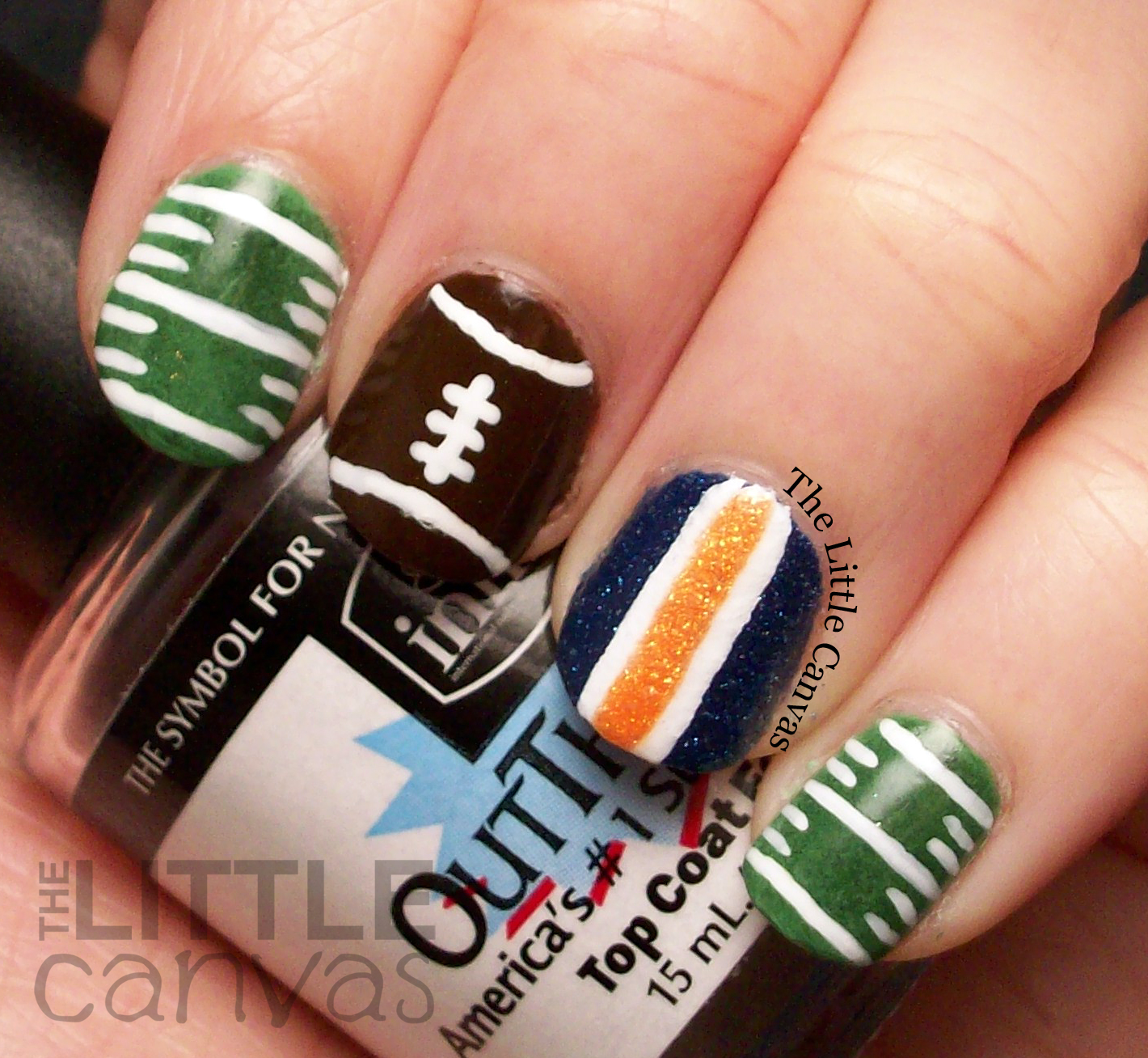 A Zoya Superbowl Manicure - Go Broncos! - The Little Canvas