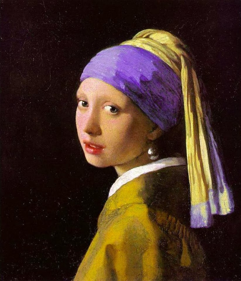 Johannes Vermeer: Girl with a pearl earring.