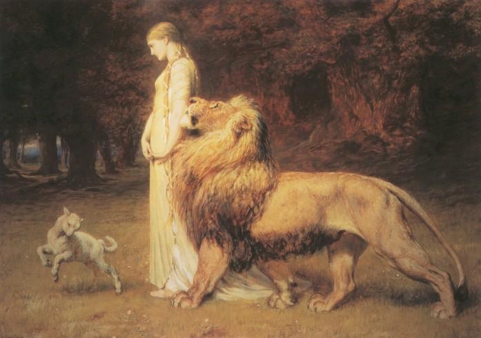 briton riviere una lion