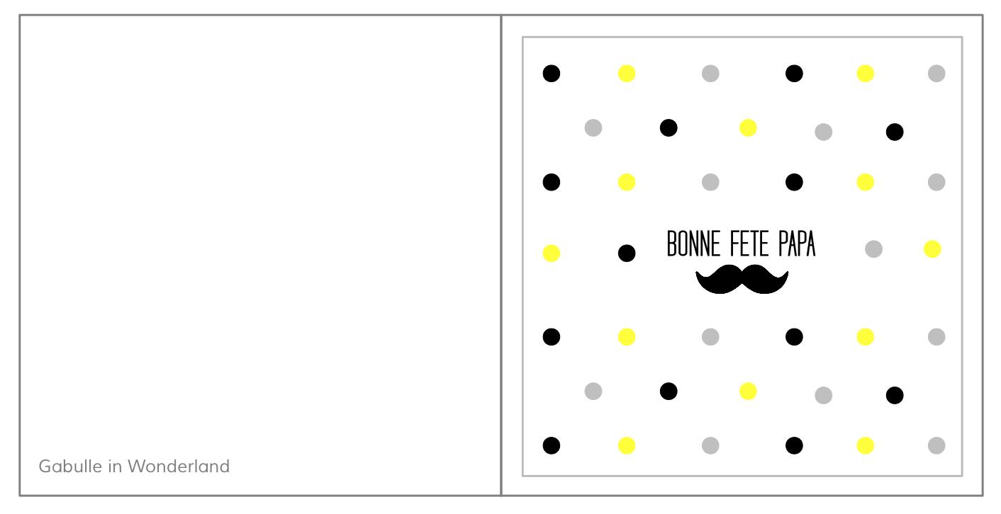 Favorit Gabulle in Wonderland: Carte à imprimer pour la fête des pères PS05