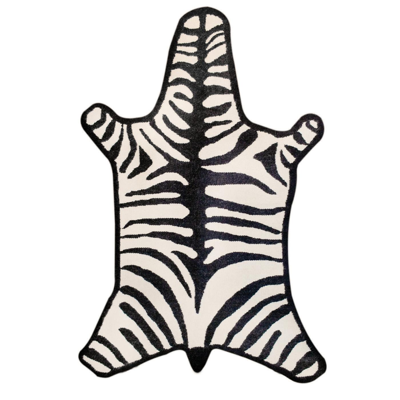 Zebra Sculpture Area Rug: Jonathan Adler Zebra Rug