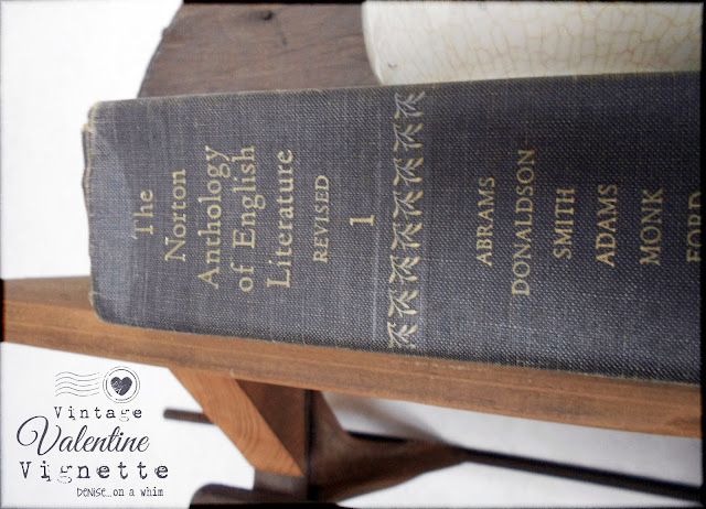 An Aged Book for Decor via http://deniseonawhim.blogspot.com