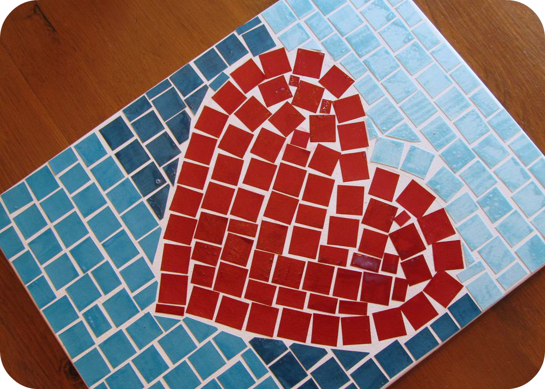 Pocket full of pink making your own mosaic art for Easy mosaic designs