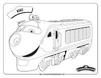 chuggington koko train coloring pages