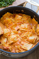 http://www.cookingclassy.com/2014/08/ravioli-creamy-sundried-tomato-basil-sauce/