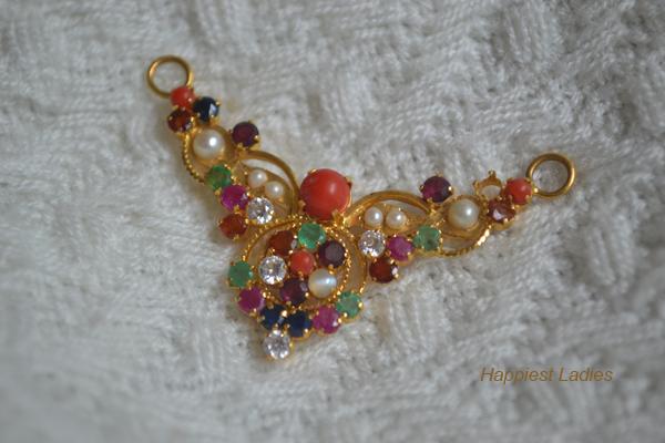 Navarathna-Pendent+ diamond designs + Gulf designs