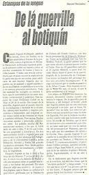 DE LA GUERRILLA AL BOTIQUÍN