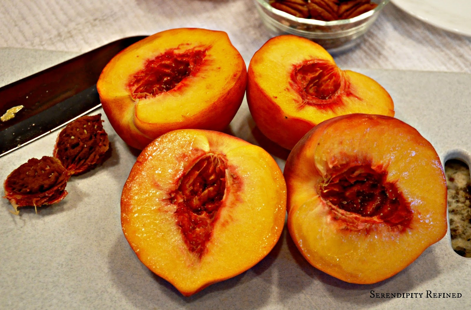 ... Blog: Grilled Summer Peaches With Toasted Pecans and Maple Syrup Glaze