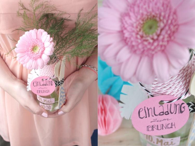 DIY Einladung mit Blumen