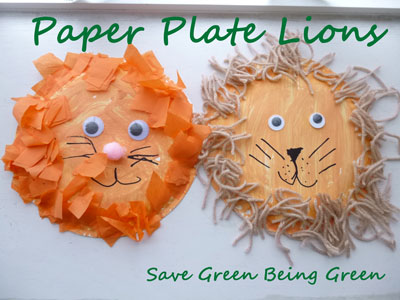 lion preschool craft save green being green paper plate crafts 3 versions 254