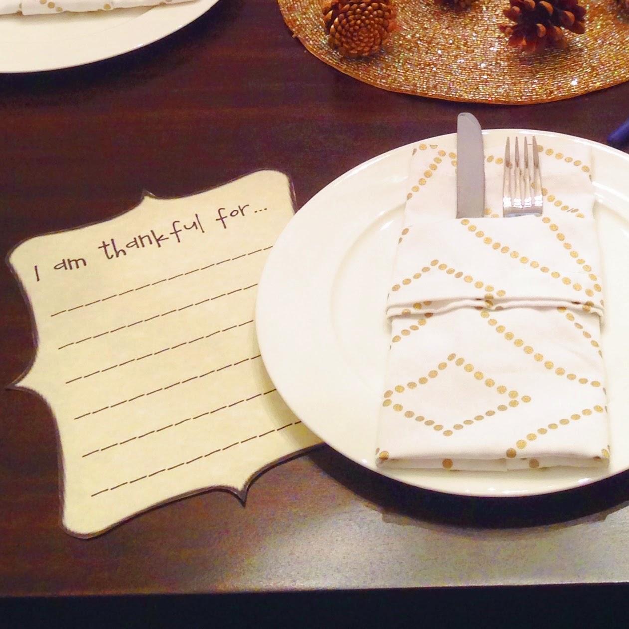 Thanksgiving, thankful