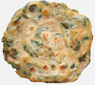 Wheat - Spinach Dosa