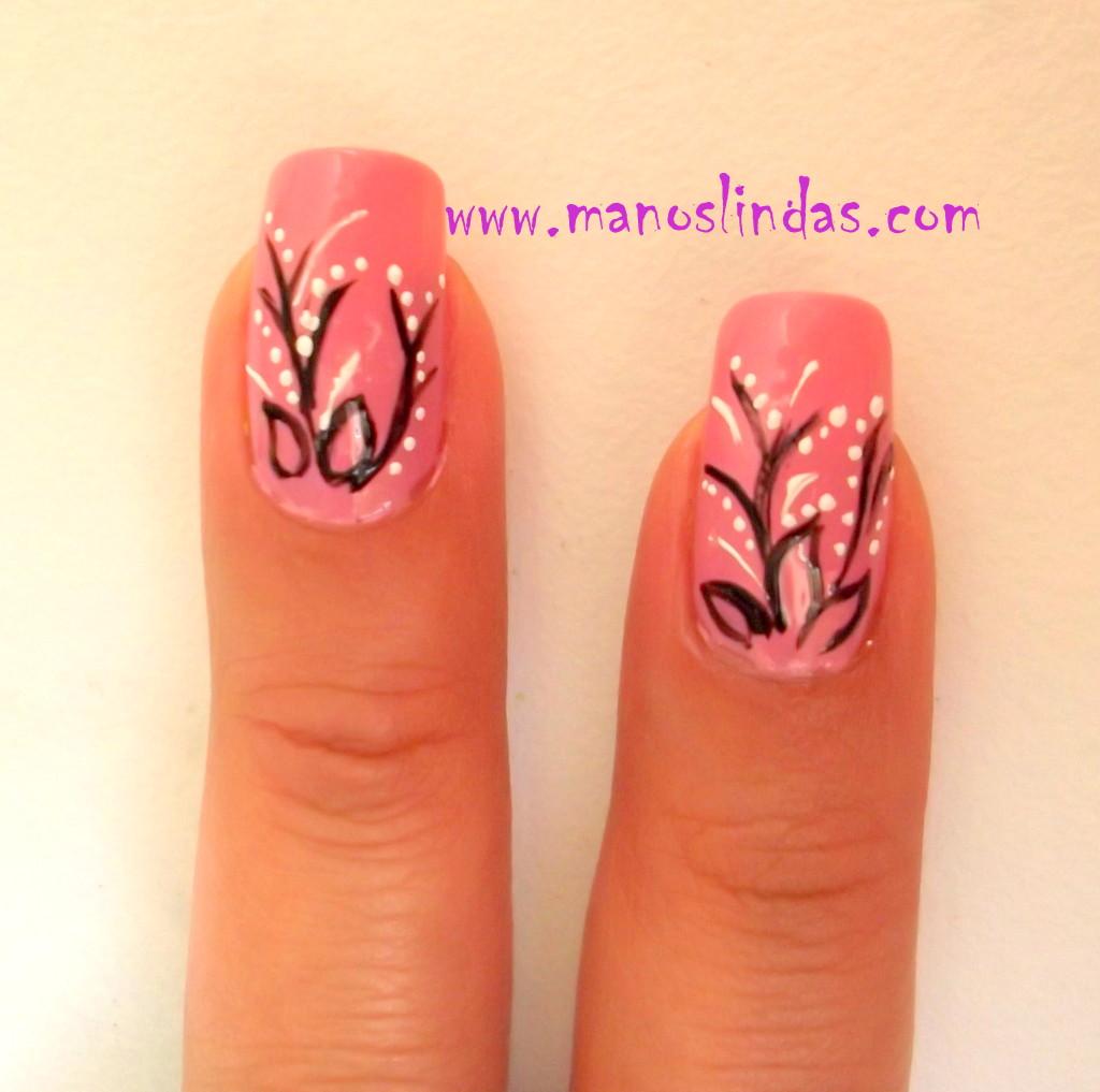 Diseño fino para uñas paso a paso ~ Manoslindas.com